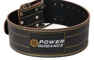 Power Guidance Leather Deadlift Belt