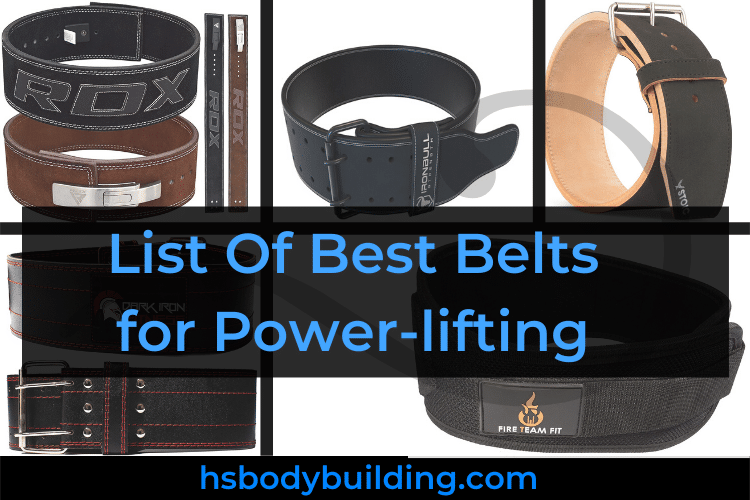 List Of Best Belts for Power-lifting
